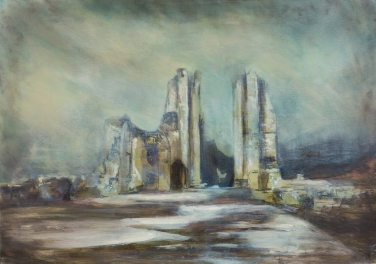 2016 North Tower Furness Abbey, Oil on Panel 68cm x 49cm