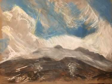 2017 ISLE OF SKYE - Loch Coruisk II Pastel Painting