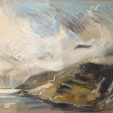 2017 ISLE OF SKYE – Loch Coruisk I Pastel Painting