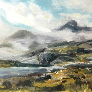 2017 ISLE OF SKYE – Loch Coruisk III Oil Sketch on Panel 12'x10'