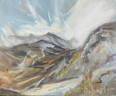 2017 ISLE OF SKYE – Loch Coruisk IV Oil Sketch on Panel 12'x10'