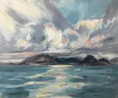 2017 ISLE OF SKYE -Elgol towards Loch Coruisk Oil Sketch on Panel 12'x10'
