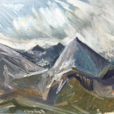 2018 ISLE OF SKYE – Loch Coruisk V Oil Sketch on Panel 12'x10′