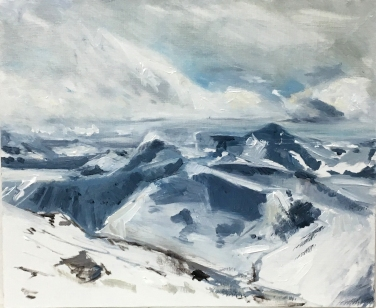 2018 SCOTTISH HIGHLANDS – View From Ben Nevis Oil Sketch on Panel 12'x10′